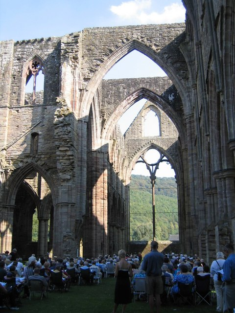 Tintern Abbey used as it used to be ...