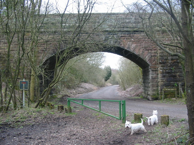Railway Bridge at North End of Rudyard Lake