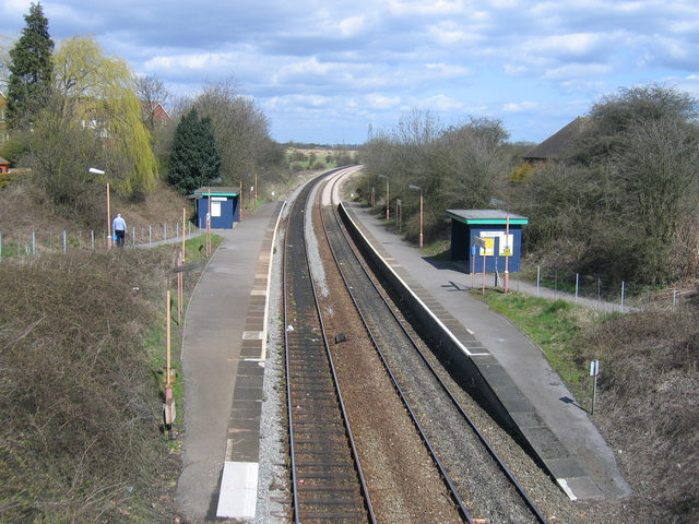 Wythall Station platforms