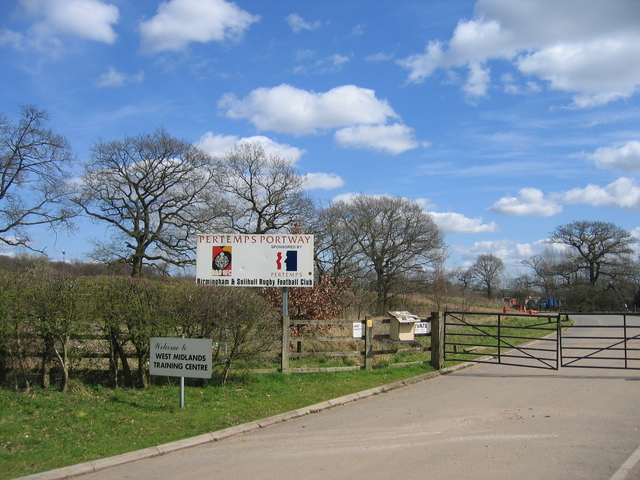 Entrance to Birmingham & Solihull Rugby Football Club