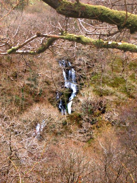 Nant Ysbyty Cynfyn waterfall