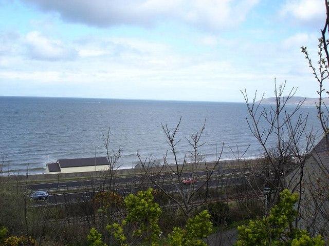 Penmaenmawr railway and sea