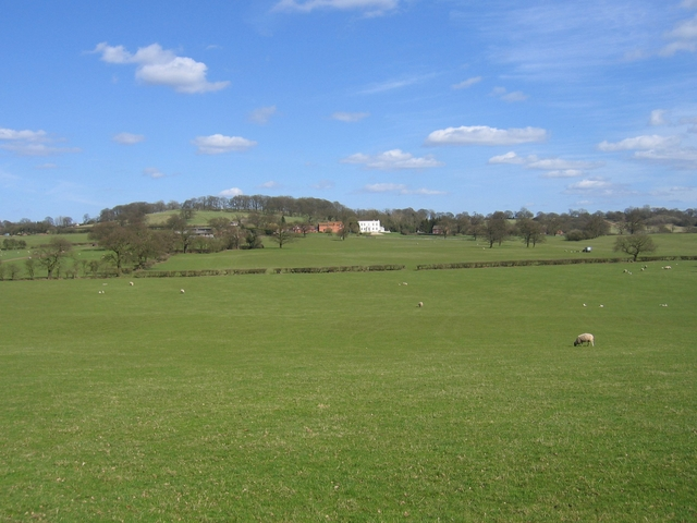 View towards Lilley Green Hall and farm