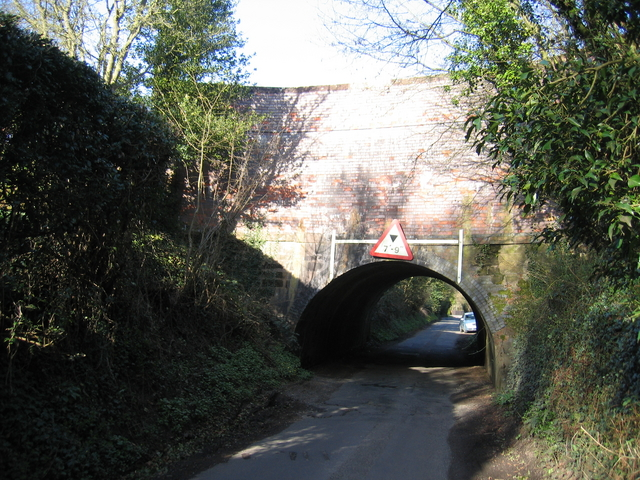 Lane under the Worcester and Birmingham Canal aqueduct near Barnt Green