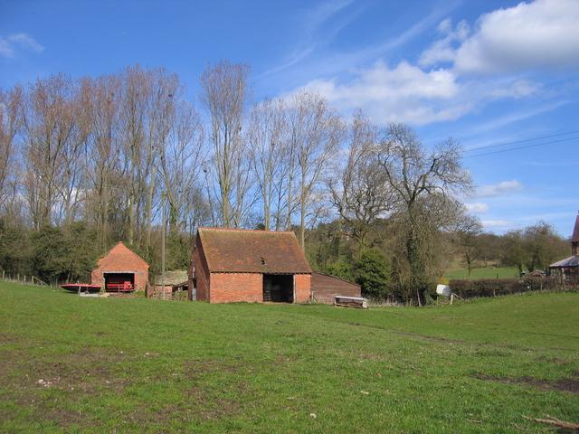 Farm buildings at Lea End