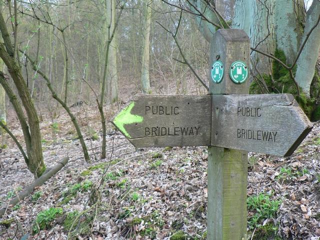 Ebor Way Signpost, Harewood Estate