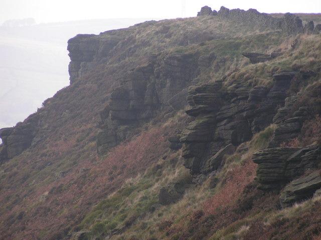 Rocks above Allstone Lee