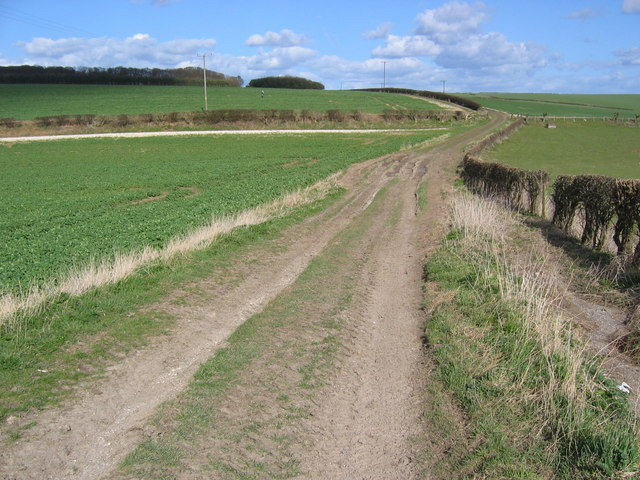 Track to Elmswell Wold Farm