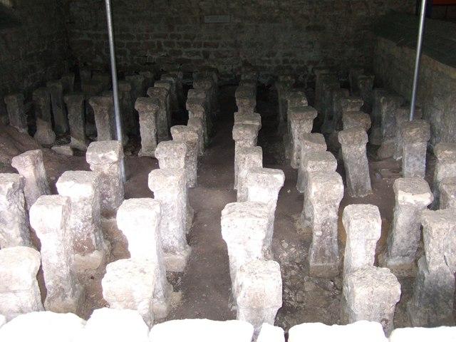 Pillar Hypocaust, Chedworth Roman Villa