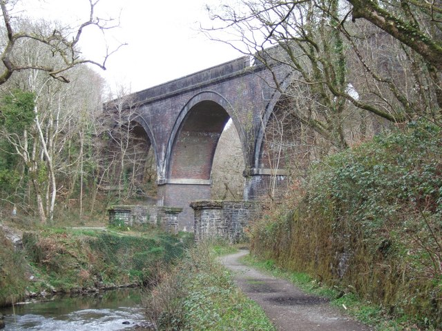 Cann Viaduct and river Plym