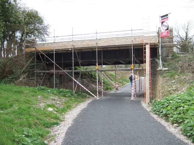 Ham Green Bridge on the Plym Valley cycle way