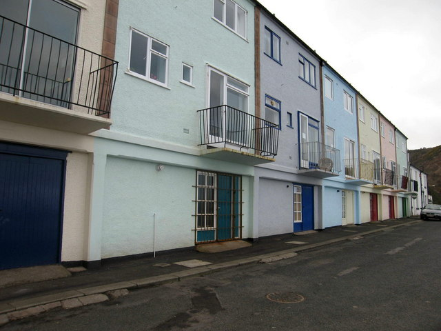 Houses at Burnmouth Harbour
