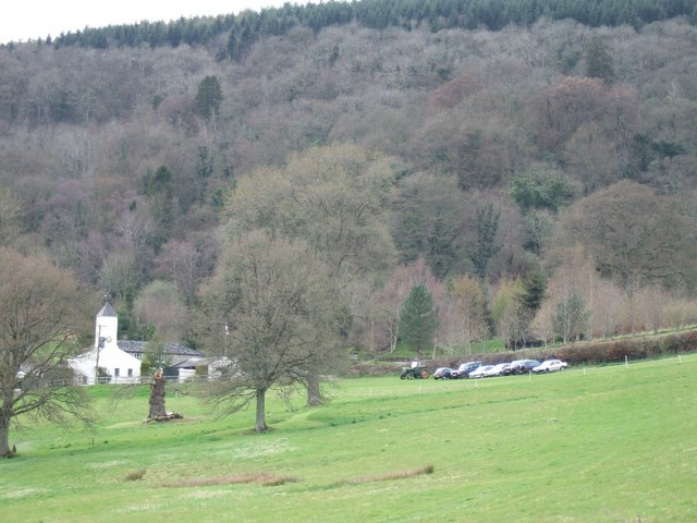 Buildings for Canonteign Falls and car park.
