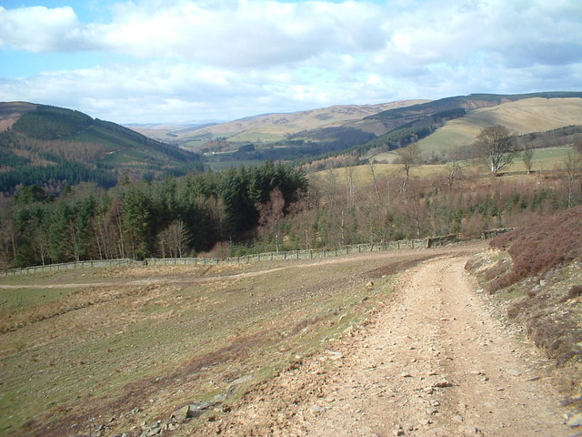 Track up Foulshiels Hill from Yarrowford