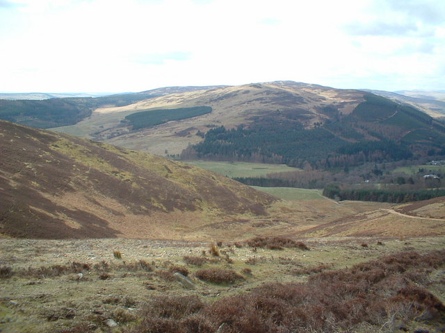 The track down Foulshiels Hill