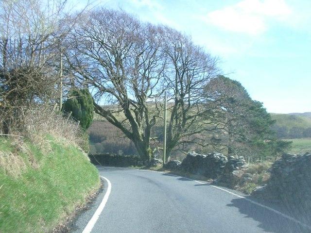 B4574 west of Cwmystwyth