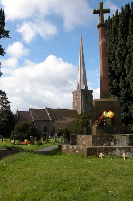 War Memorial and Church, Peterchurch