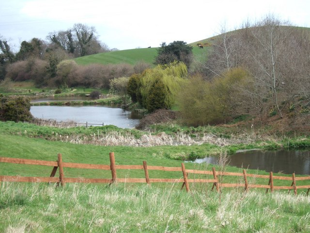 Fishing lakes at Luccombs Farm, near Kenn