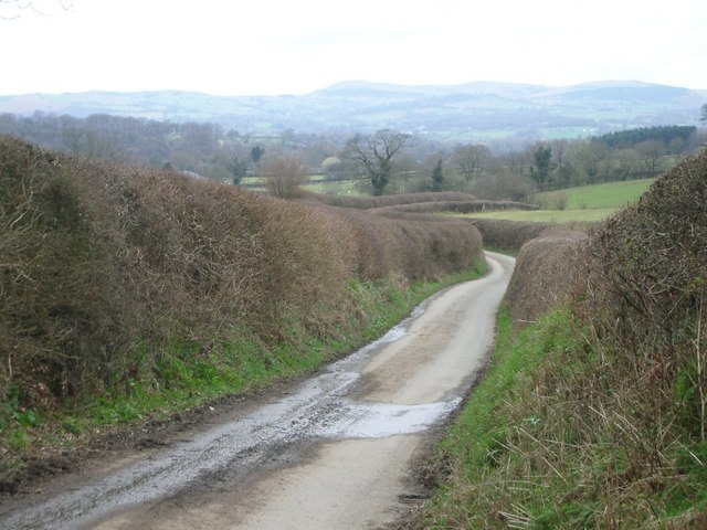 The lane leading from Cwm towards Crossgates