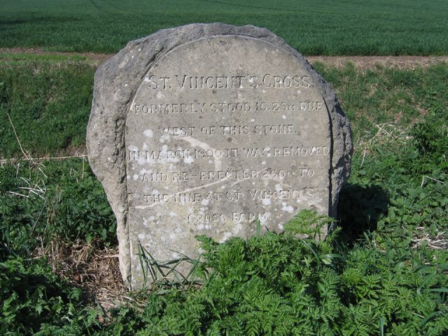 St Vincent's Cross marker stone, Thorney, Peterborough