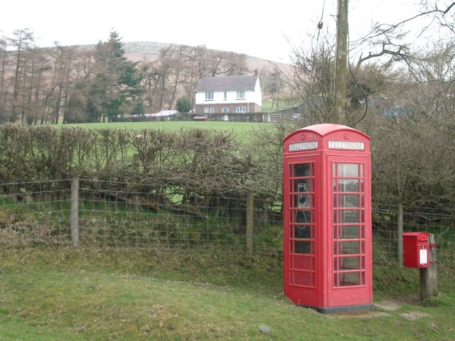 Telephone box at Moelfre