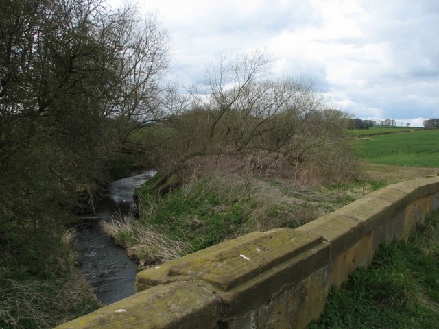 The River Wiske flowing under the old A167 bridge