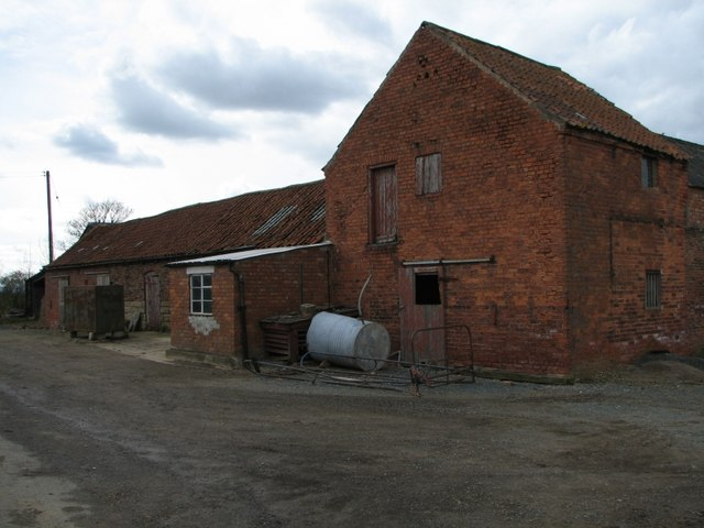 The farm buildings opposite Church Farm