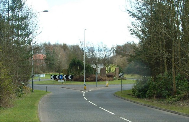 Roundabout with standing stones