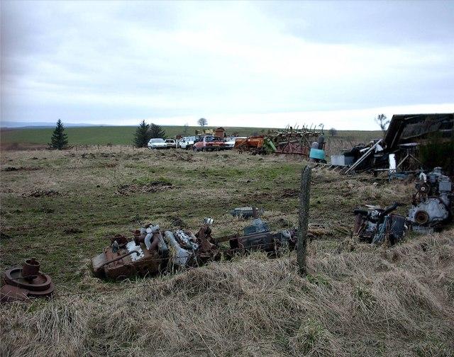 Car Graveyard near Broomhill,Newmill