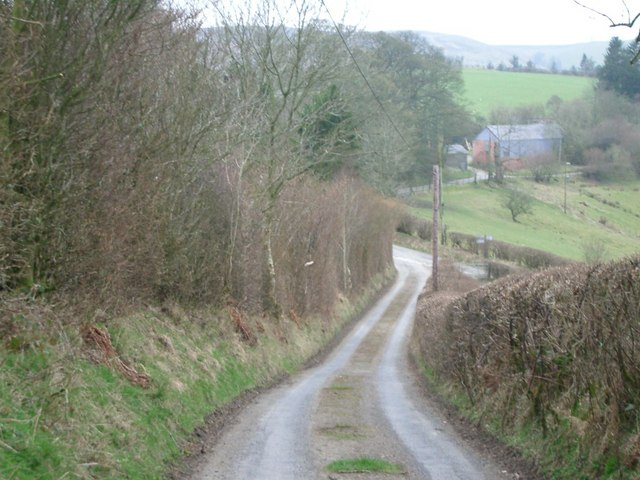 Lane near Llananno