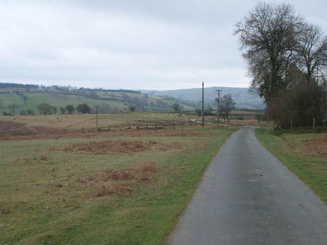 Minor road towards Caerfaelog