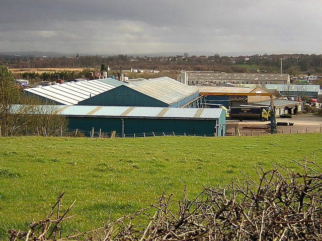 Factory Roofs Near Coatbridge