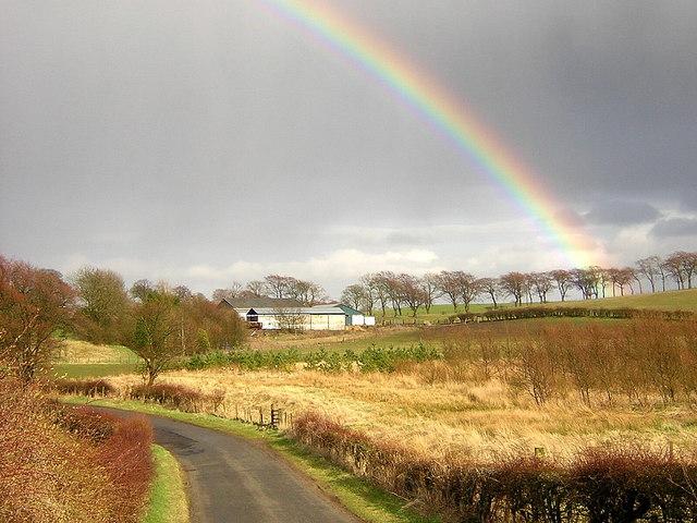 Rainbow over Wester Glentore