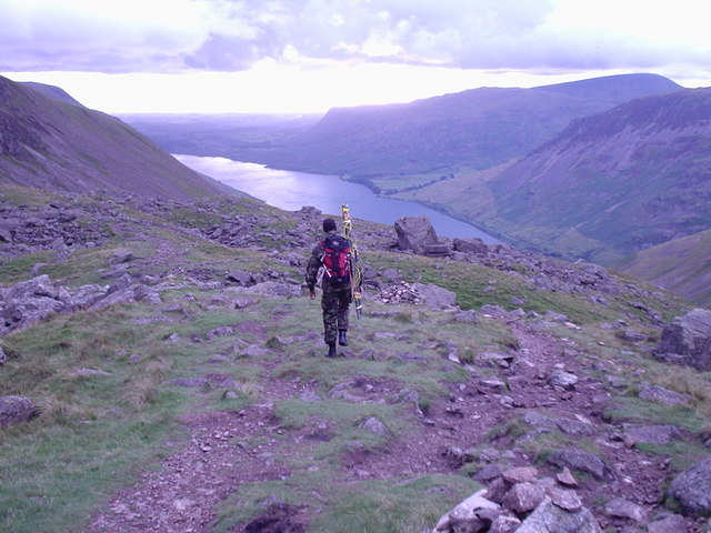 Scafell pike looking south west