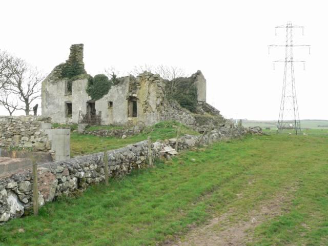 Ruins, Gwaen-ydog, Nr Mynydd Mechell.