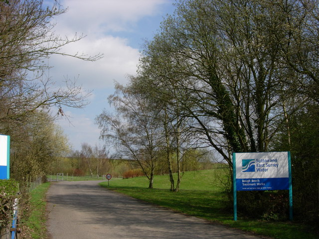 Entrance to East Surrey Waterworks - Bough Beech Reservoir