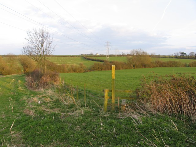 Footpath marker near to Jericho Farm