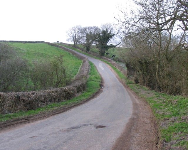 Country road towards Somerby