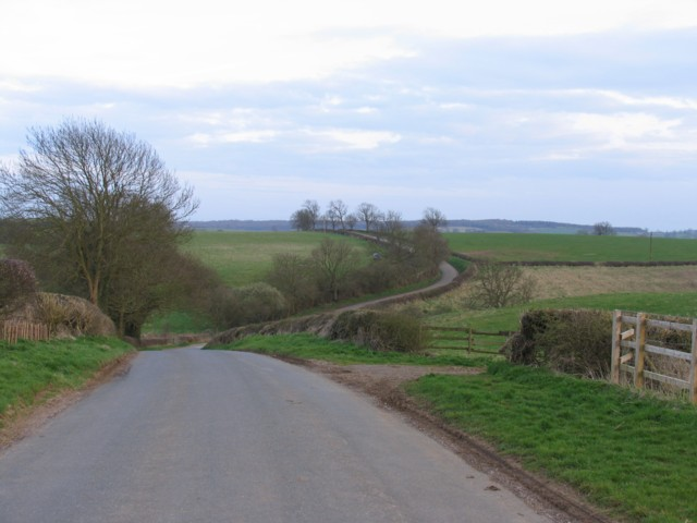 Country road towards Owston