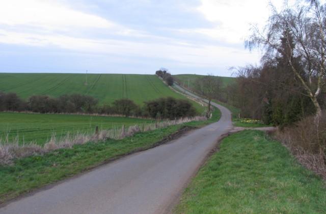 Washdyke Road outside Owston Grange Farm