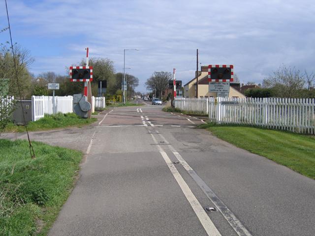London Road crossing, Little London, Spalding, Lincs