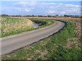 TF2939 : Winding lane and drain, Kirton, Lincs by Rodney Burton