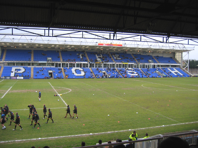 Peterborough United's South Family Stand beginning to fill up