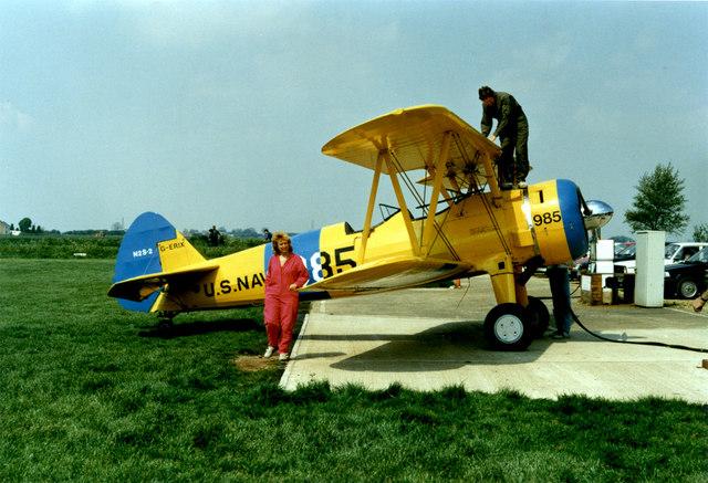 Refuelling at Fenland Aerodrome