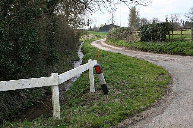 Farm Road and Stream, Far Thorpe