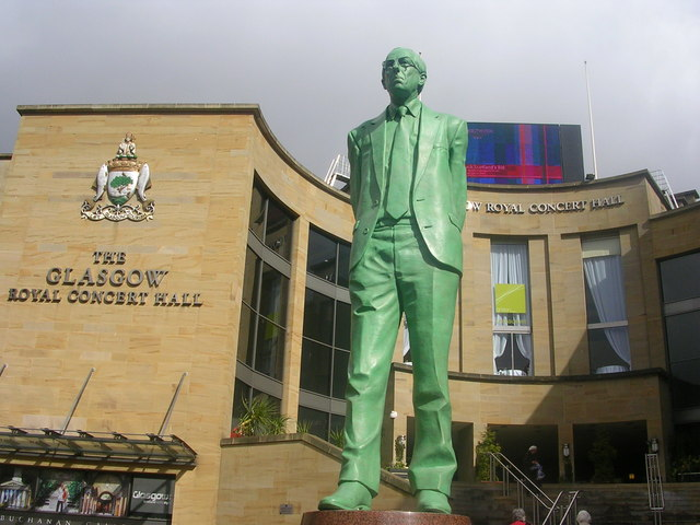 Glasgow Royal Concert Hall and Donald Dewar Statue