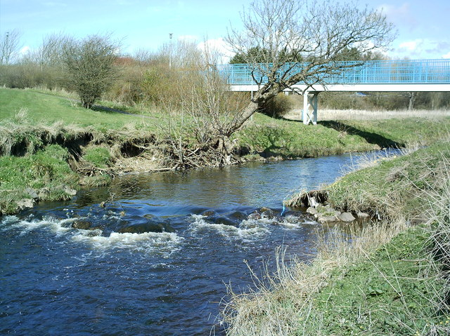 Footbridge across Annick Water
