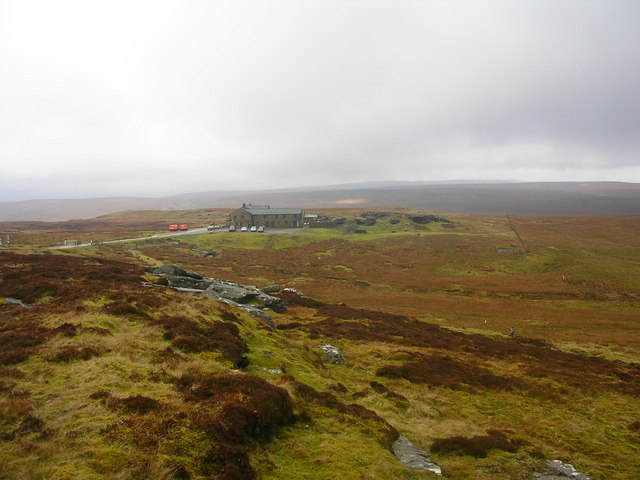 Tan Hill Inn and surrounding countryside