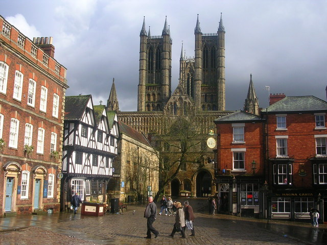 Lincoln Cathedral after a rain shower