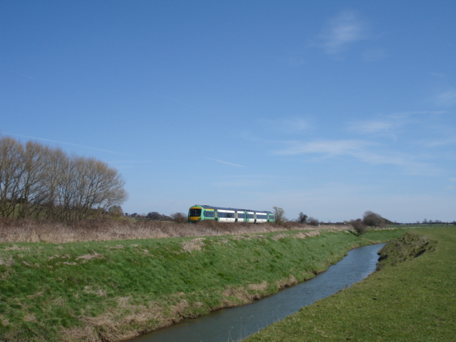 Train and River Brede East Sussex